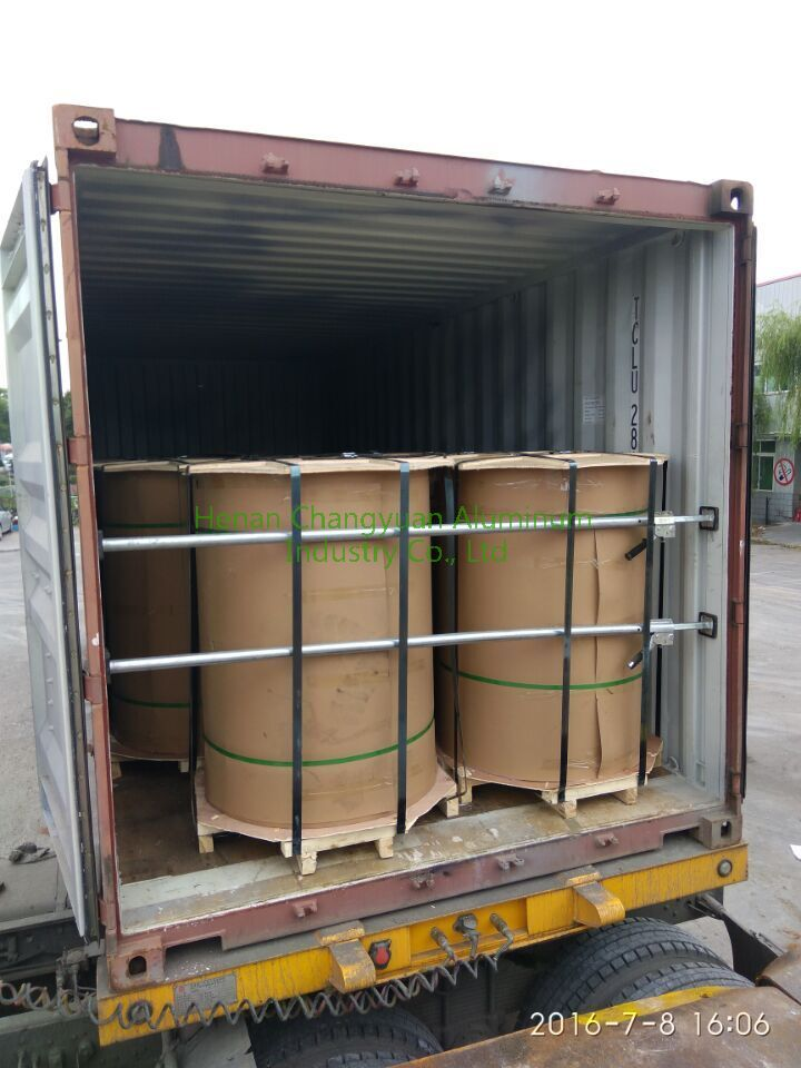 color coated aluminum coil in the 20 GP container