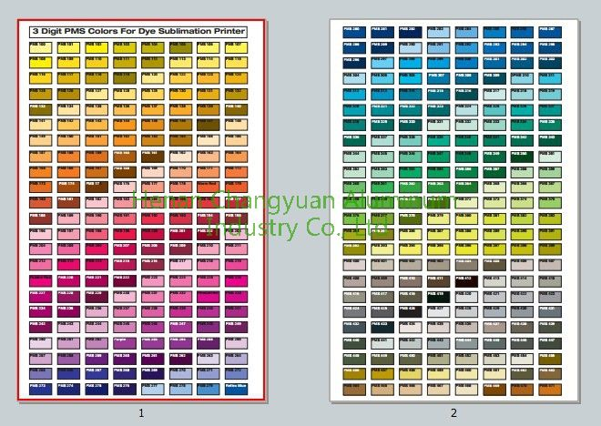 color charts for coated aluminum coil